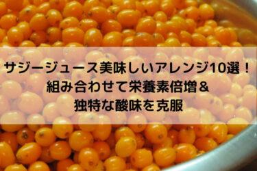 サジージュース美味しい飲み方&アレンジレシピ10選!効果効能は!?